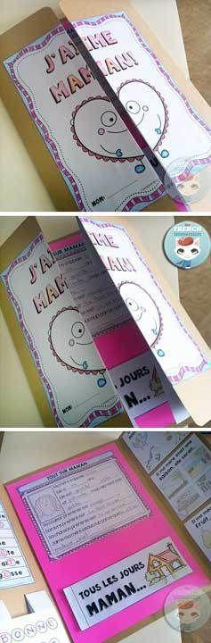French Mother's Day Lapbook Cover - lapbook pour la fête des mères en français