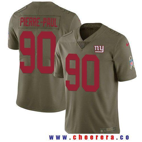 Men's New York Giants #90 Jason Pierre-Paul Olive 2017 Salute To Service  Stitched. Camiseta De Los Dallas CowboysJerseys NflNikeJuegos ...