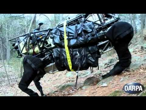 LS3 Robot funded by DARPA can stand, walk and follow a person up a hill and may end up going out on field exercises with the Marines this summer. Yikes! #Robot #DARPA #LS3