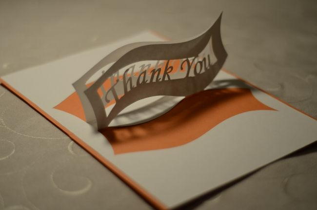 Ribbon Thank You Pop Up Card Template Creative Pop Up