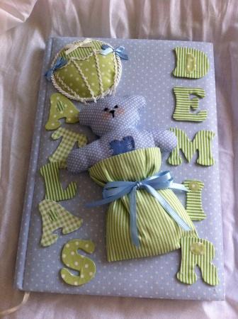 Balonlu ayıcıklı anı defteri, bebek doğum hediyeleri