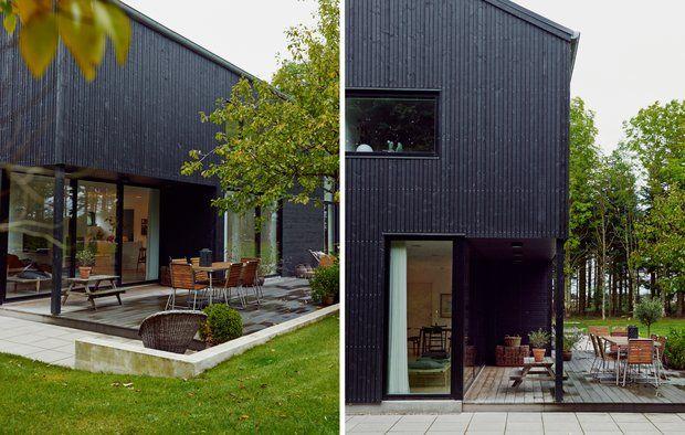 Familien hentede inspiration fra amerikanske lader, da de skulle bygge nyt i den nordjyske skov.