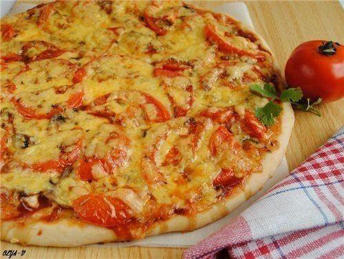 Пицца с курицей и грибами  / Любимая Азия