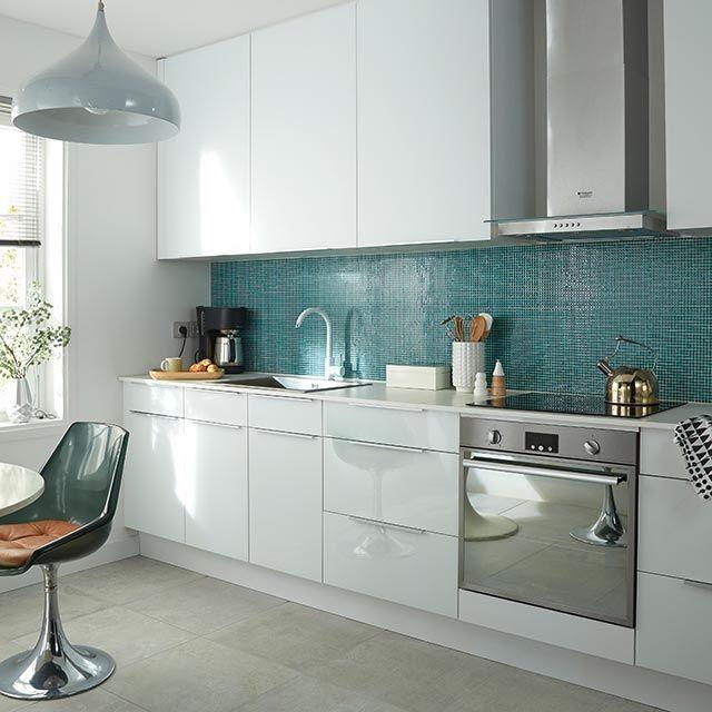 Maison Moderne En Forme De Cube : lewis castorama blanche brillante blanche mate projet cuisine cuisine