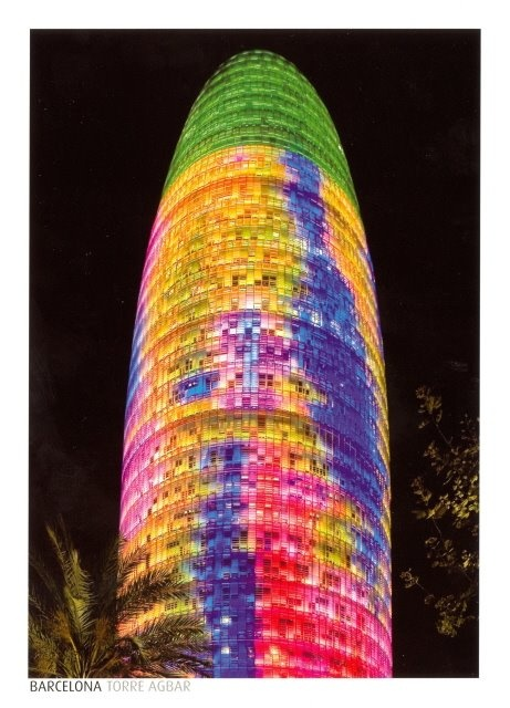 Christmas lights - Torre Agbar - Barcelona