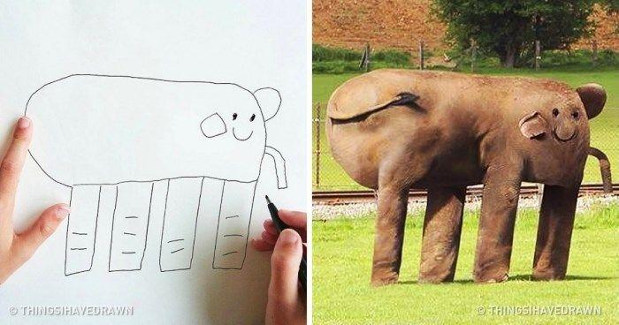 Az apa elképesztő valóságot készített fia rajzaiból