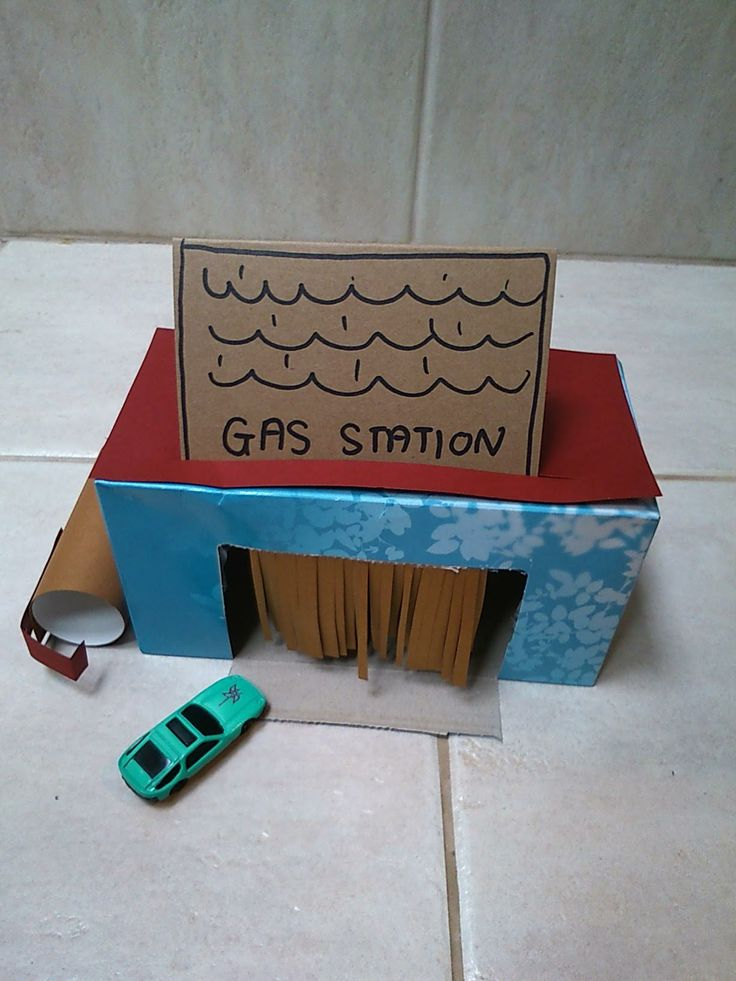Tissue Box Craft: Making a Carwash/ Gas station - Young Catholic Mums