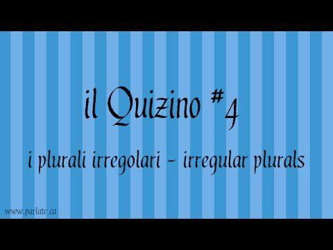 Quiz #Italian irregular plurals