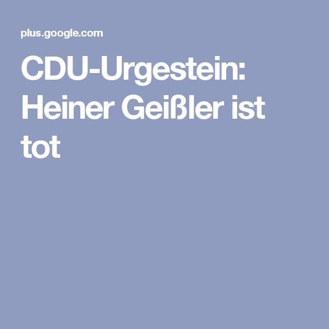 CDU-Urgestein: Heiner Geißler ist tot