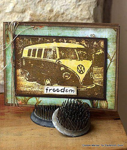 Card by Connie Mercer using Darkroom Door Kombi Photo Stamp.