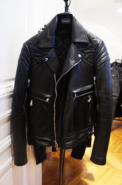 cf8e0d7512e38 Great Balmain Biker Jacket  fashion This is the way a biker jacket should  look in regards to proportions.   Leather Jackets   Pinterest   Jackets, ...