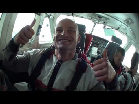 Mr Gay World skydives over Queenstown New Zealand