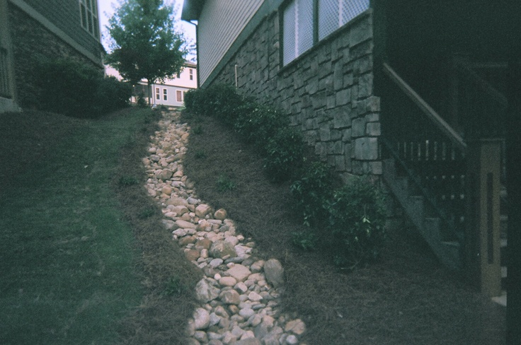 212 best images about front walkway redo on pinterest for Landscape drainage slope