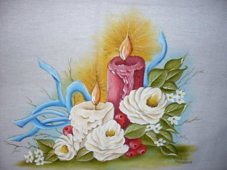 Pintura sobre tela de navidad pintura sobre tela de - Pintura en tela motivos navidenos ...