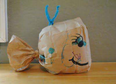 {Paper Bag Whale} Too cute. #CampSunnyPatch #Ocean #UnderTheSea