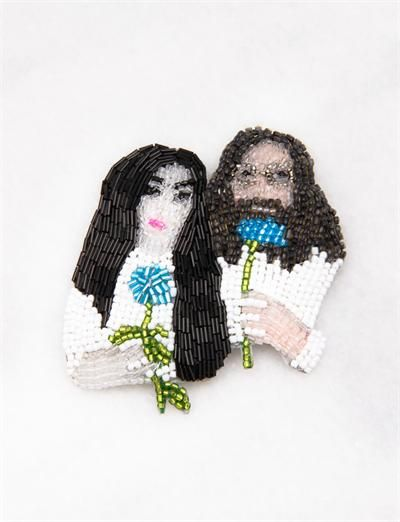 Marianne Batlle Large Brooches-John and Yoko