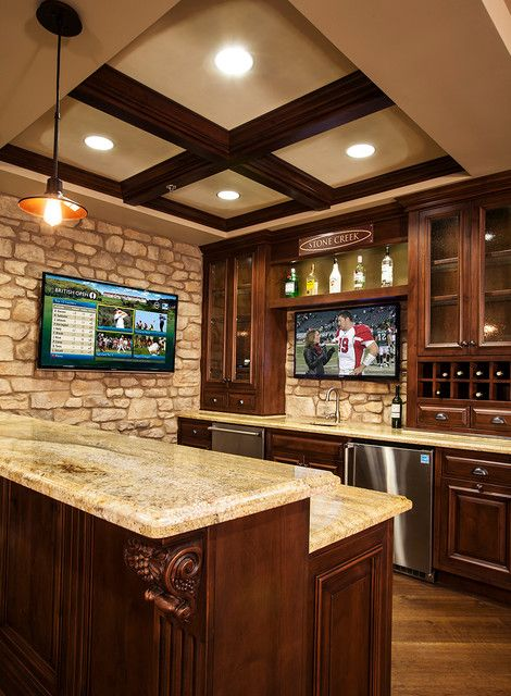 Wet Bar With Tv Google Search Basement Bar Pinterest Basement Ideas Bar And Natural Stones