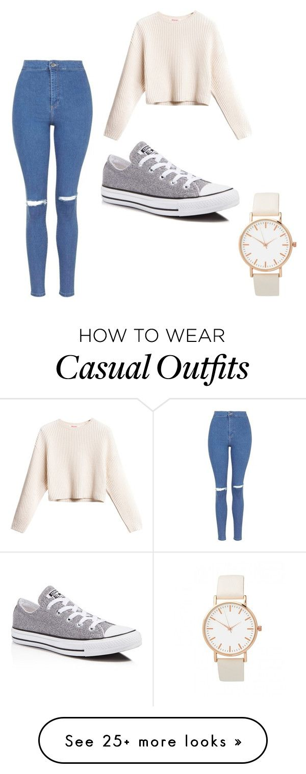 """Casual outings!"" by gracie-lloyd on Polyvore featuring Topshop and Converse"