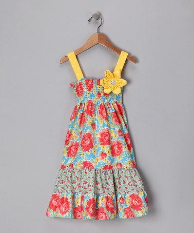 Take a look at this Sunshine Rose Sundress - Toddler & Girls by Snuggle Bug Kidz on #zulily today!