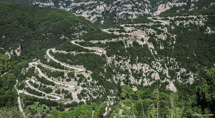 The road to Papingo. Zagori region.