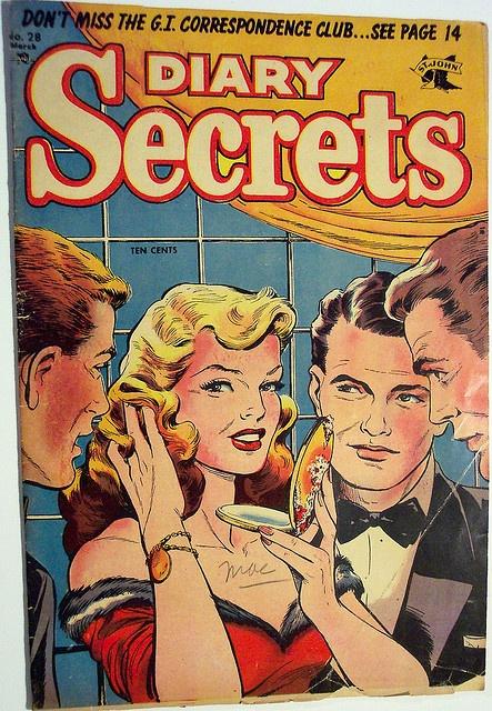 Vintage Comic Book - Diary Secrets #28 by riptheskull, via Flickr