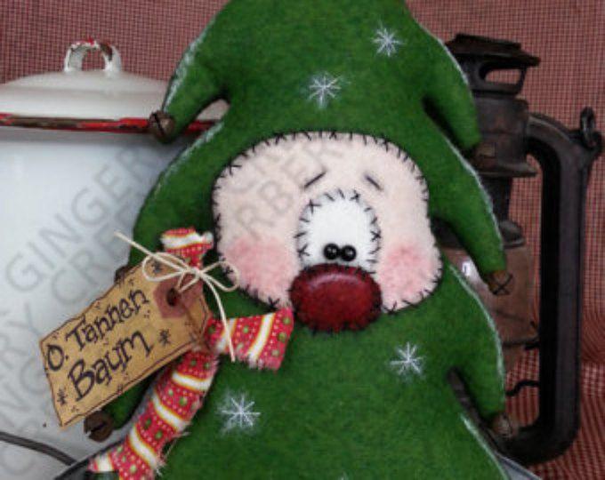 O. tannen Baum patrón de árbol de Navidad #130 - patrón de muñeca primitiva