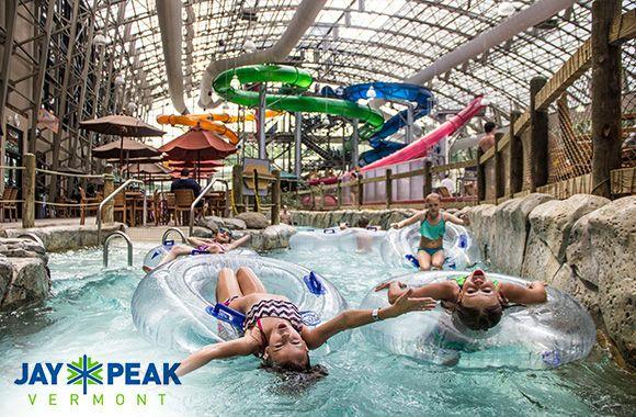 Jusqu'à 35% de rabais sur 1 ou 4 accès journaliers au parc aquatique intérieur Pump House du Jay Peak Resort! Seulement sur tuango.ca