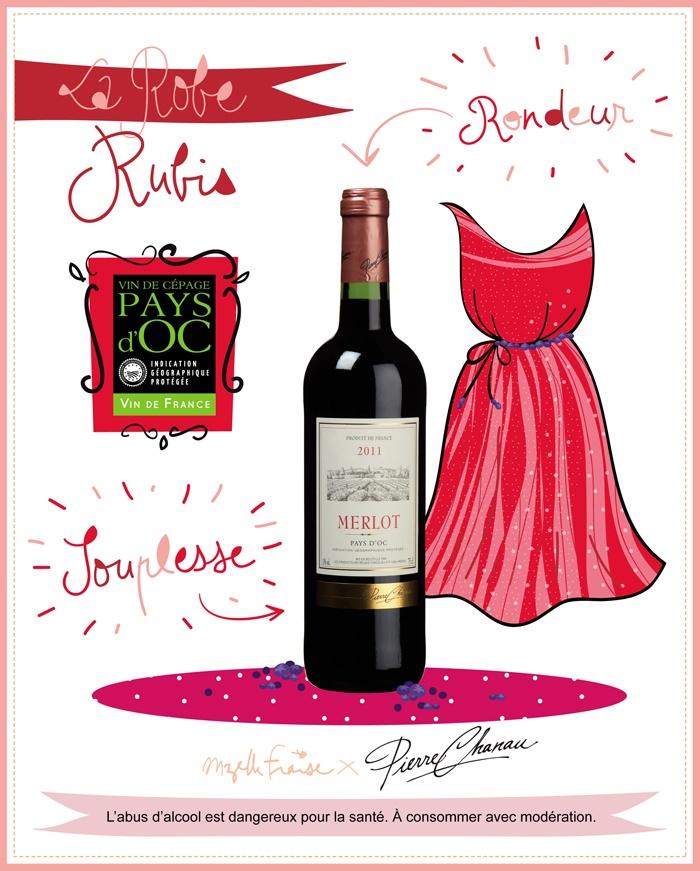 Vin Merlot Pierre Chanau #vin #wine #merlot #chanau