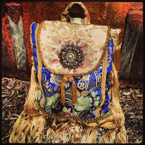 Boho Gypsy Pandora Sling Purse Backpack door MorningGloryTeahouse
