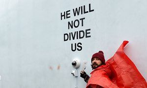 Shia LaBeouf arrested at anti-Trump art installation in New York | Film | The Guardian