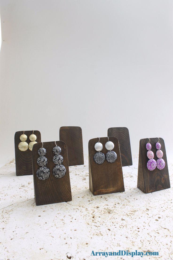 Jewelry Display Earrings Wedges Ash