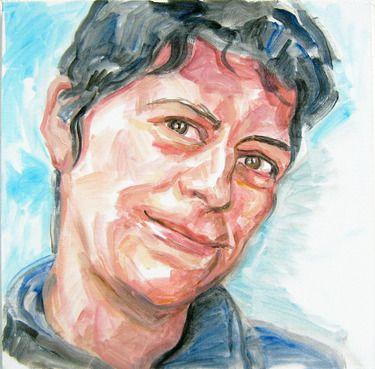 """Saatchi Online Artist Andrea Araneda; Painting, """"Angelica Casanova"""" #art"""