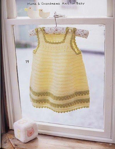 Vestido de niña en crochet