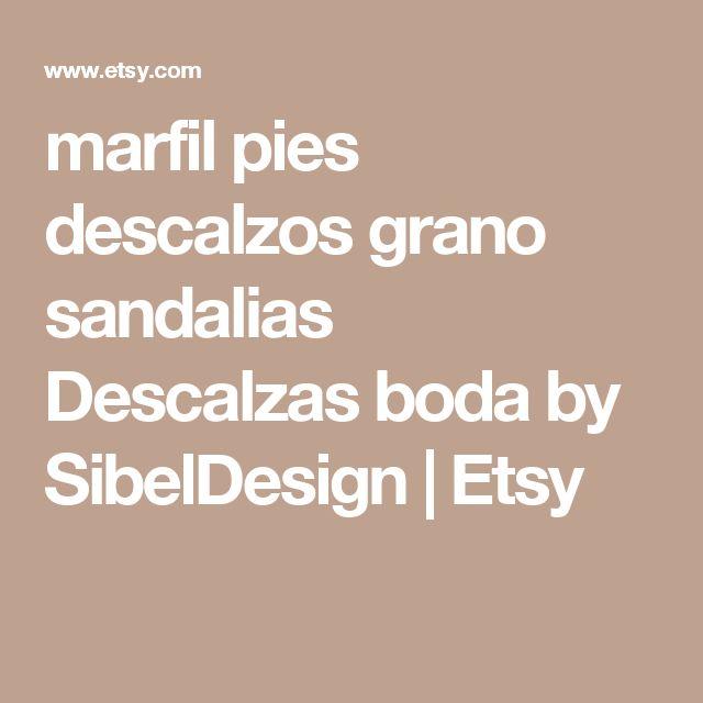 marfil pies descalzos grano sandalias Descalzas boda by SibelDesign   Etsy