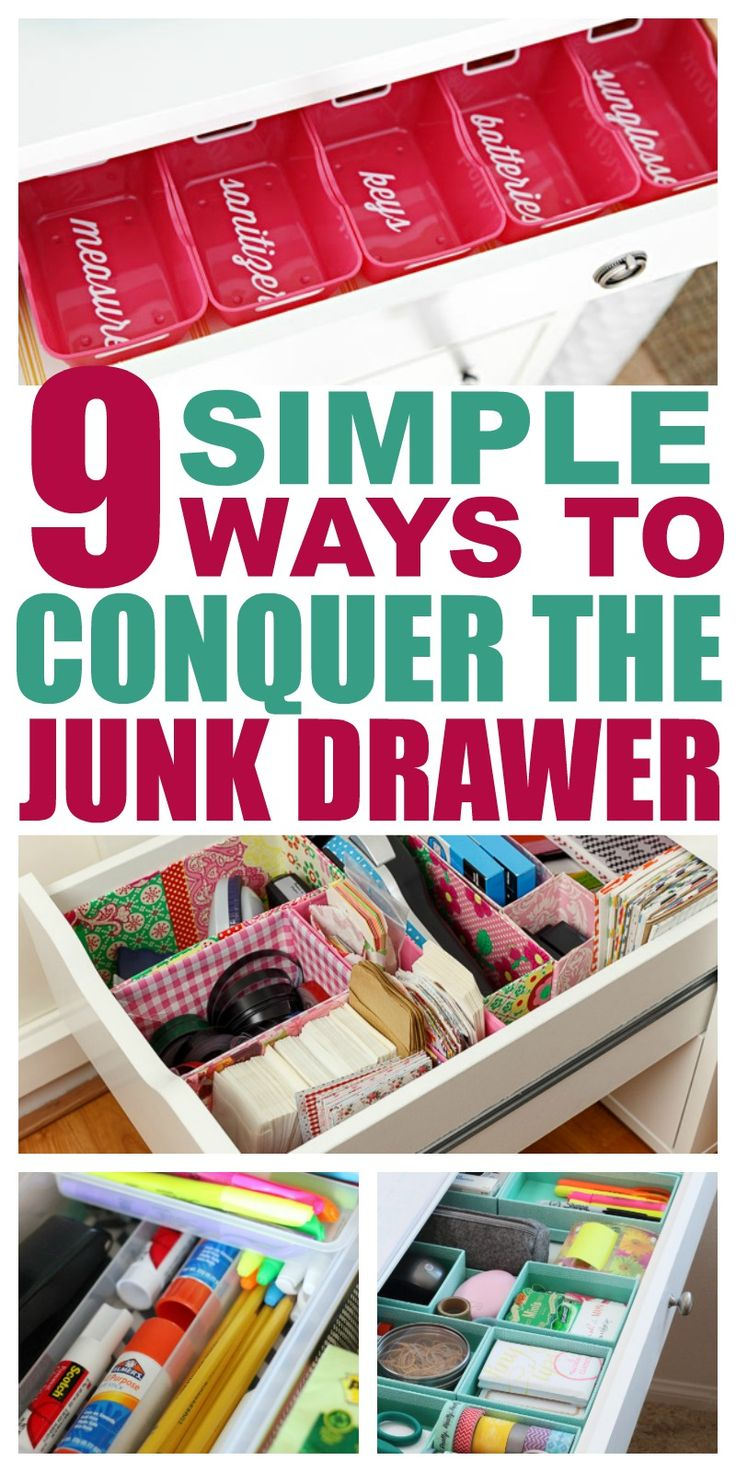 What is the use of keeping things if you can't find them when you need them!? These tips for junk drawer organization are the answer. Tip #7 is so awesome!