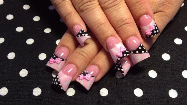 more 3d dots and stripes by Oli123 - Nail Art Gallery nailartgallery.nailsmag.com by Nails Magazine www.nailsmag.com #nailart