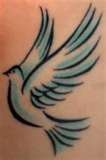 Dove Tattoo Wrist Tattoo with blue shading