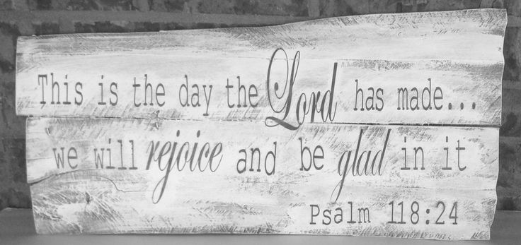 This is the day that the lord has made, Pallet wood wall hanging