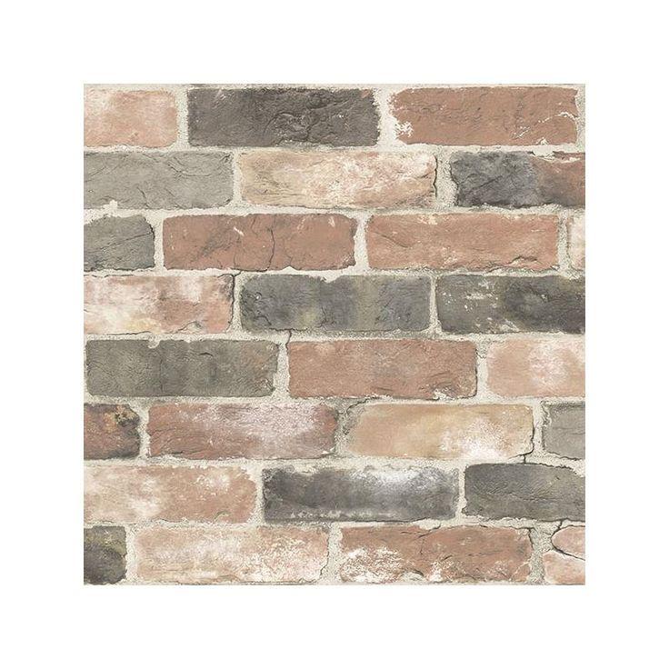Nu2064 Newport Reclaimed Brick Graphics Peel And Stick Wallpaper Peel And Stick Wallpaper Reclaimed Brick Brick Wallpaper