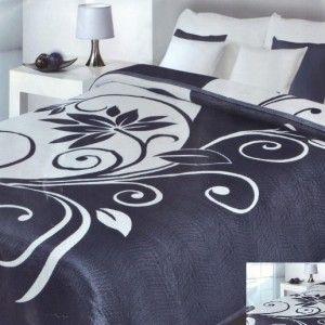tmava prikryvka na postel