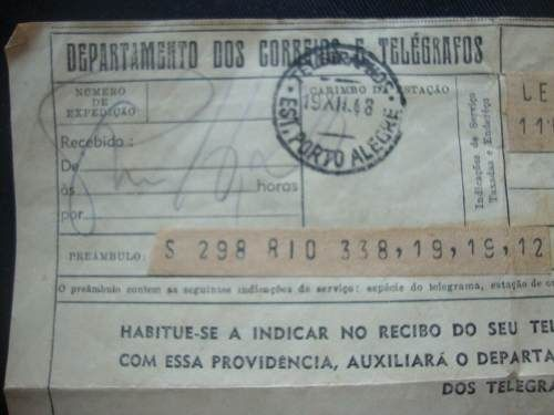 telegrama antigo propaganda caixa economica federal 1948