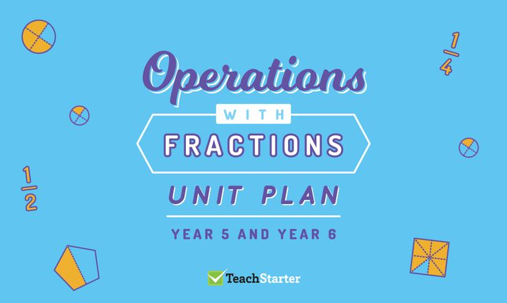 Operations with Fractions Unit Plan - Year 5 and Year 6