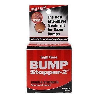 High Time Bump Stopper-2 Double Strength Razor Bump Treatment Cream 0.5oz