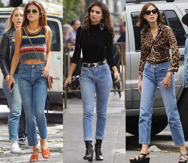Tendencia Mom Jeans, Selena Gomez, Emily Ratajkowski