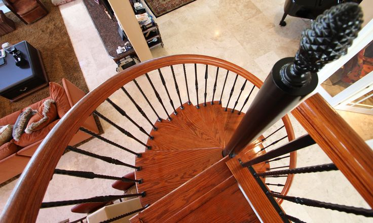 Best The Tuscan Decorative Spindle Spiral Stairs Staircase 400 x 300