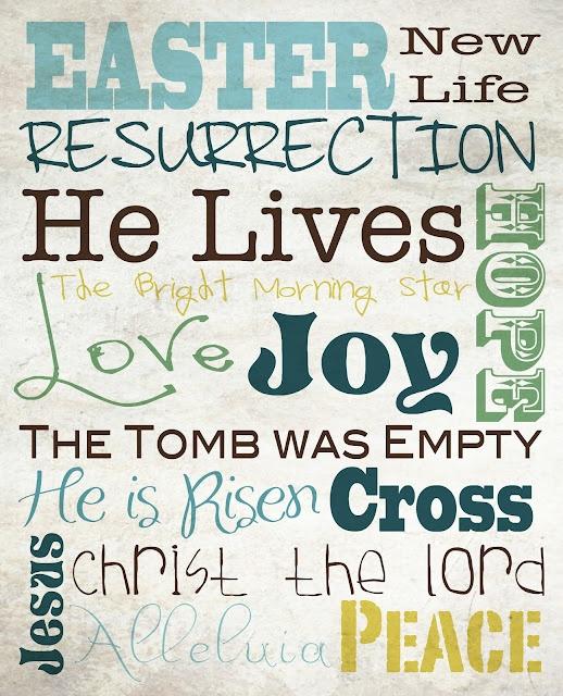 Easter Subway Art Free Printables
