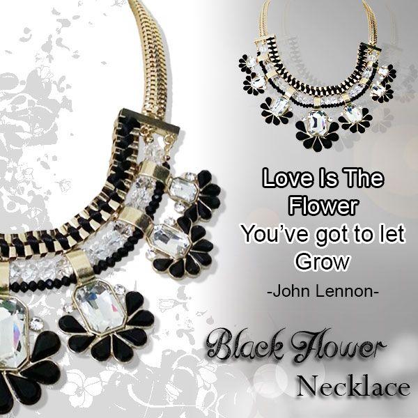 Tampil berbeda dari yang lain dengan Black Flower Necklace dari fargo2001.com ! Pancarkan pesona Anda ! http://goo.gl/iFA5o1