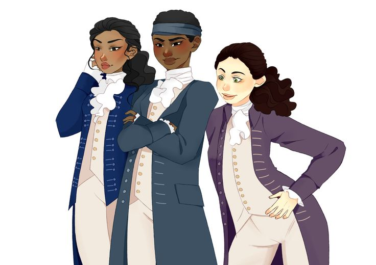 Ooh, who is this kid? What's she gonna do? - Female Lafayette, Hercules Mulligan, and John Laurens