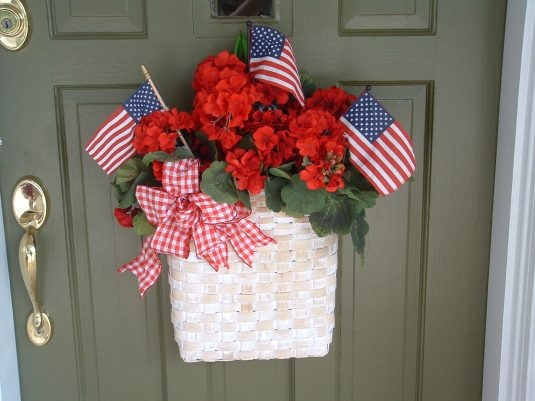 4th of July front door basket - just found my 4th of July door decoration!