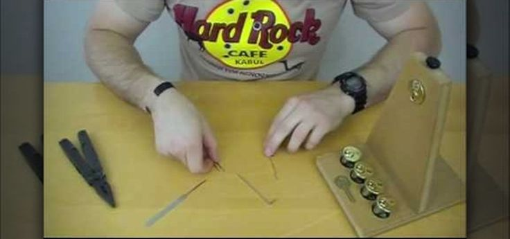 How to make a lock pick out of a paper clip and multitool